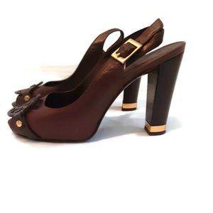 Tory Burch Peep Toe Heels size7.5